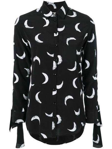 Saint Laurent shirt printed shirt women black silk top