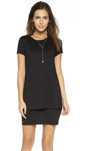 dress shift dress layered black