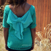 top,bow back,crochet,trendy,jade top,bow back top,fall outfits