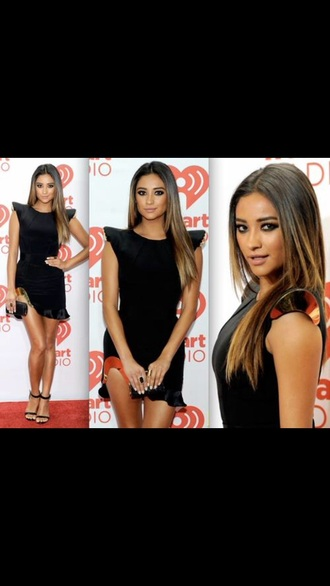 dress black gold shay mitchell