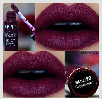 make-up burgundy lipstick lip stain lip gloss red lipstick collagen