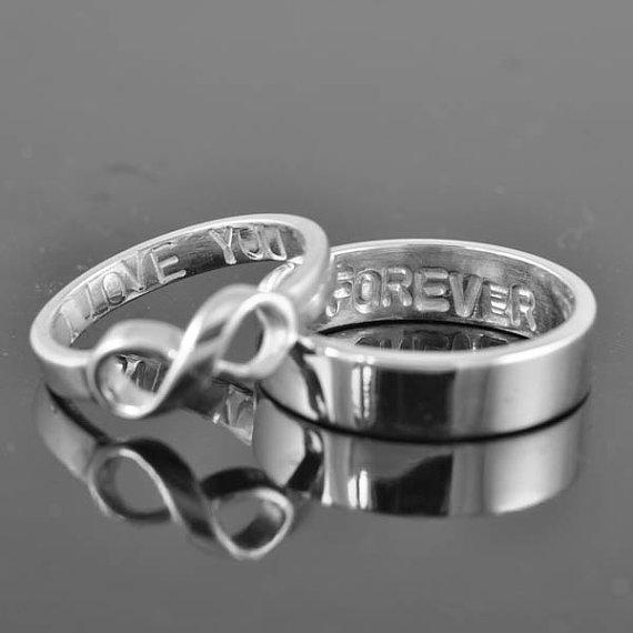 infinity ring wedding band wedding ring engagement ring