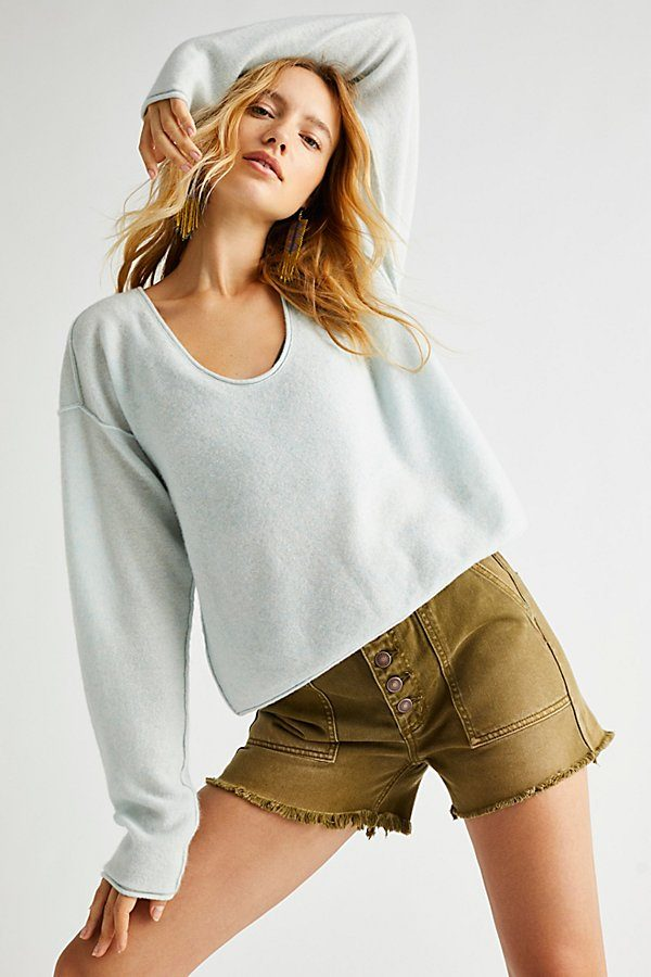 Always Cashmere V-Neck Sweater by Free People