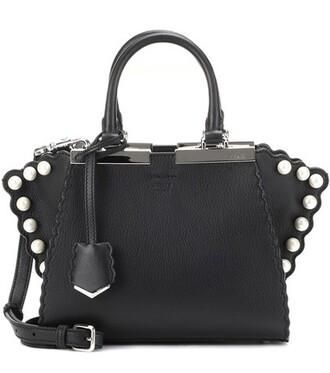 mini leather black bag