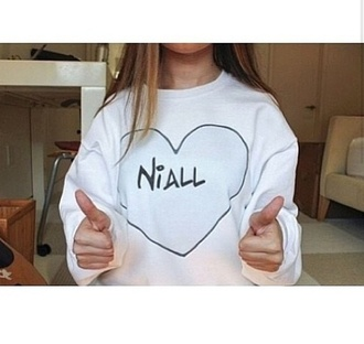 sweater niall horan sweater one direction oversized sweater