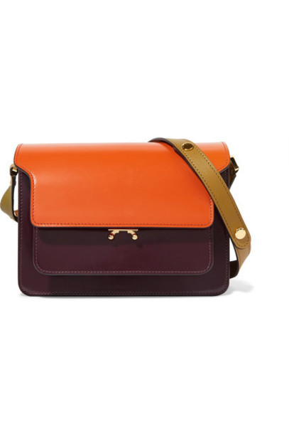 MARNI bag shoulder bag leather burgundy