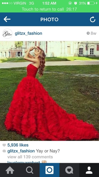 dress red blonde hair fashion feather dress