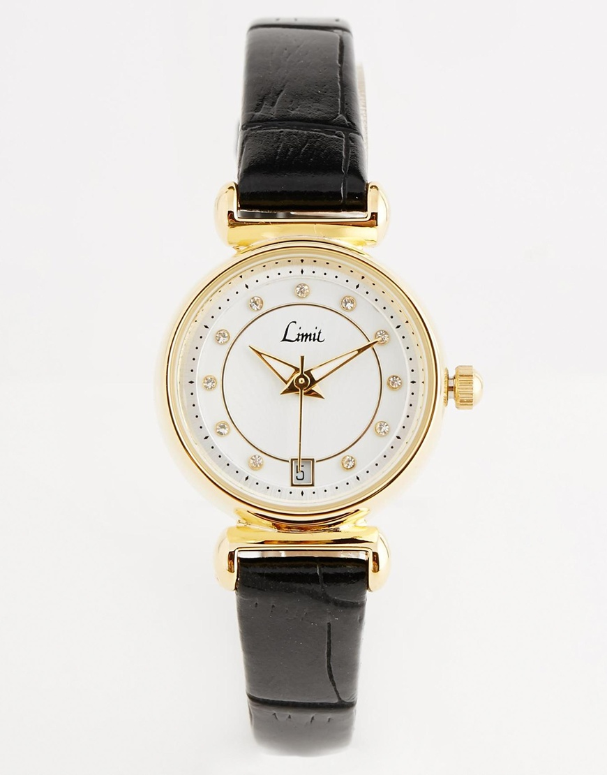 Limit Black Strap Watch at asos.com
