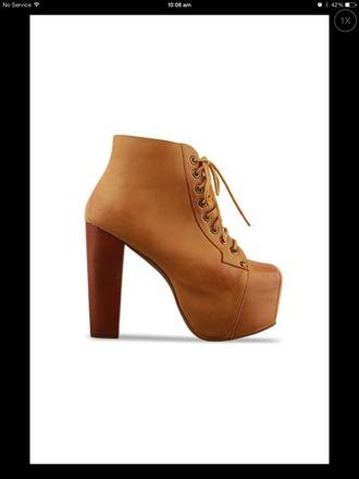 shoes boots high heel ankle wood jeffery campbell's platform lace up boots
