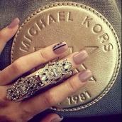 jewels,ring,michael kors,armor ring