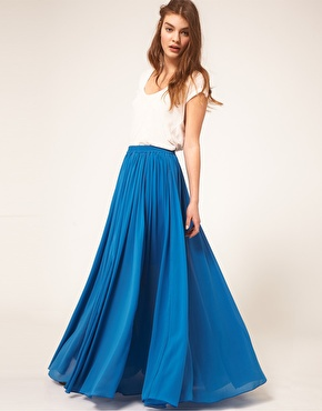 ASOS | AUS ASOS Maxi Skirt with Broderie Inserts at ASOS