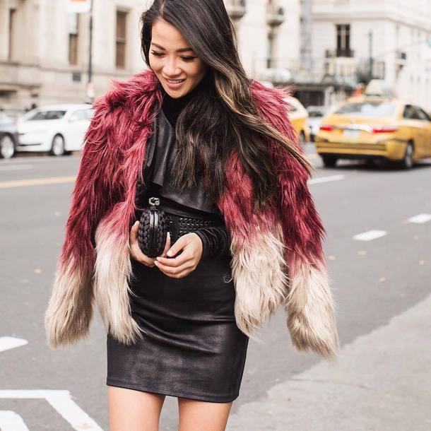 dress date outfit mini dress black dress little black dress jacket pink jacket fur jacket