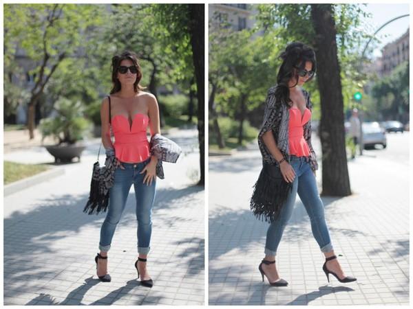 frassy top jeans bag