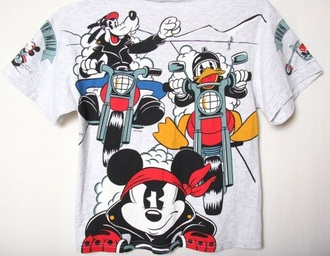 shirt mickey mouse motorcycle