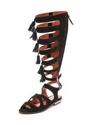 shoes,rebecca minkoff,gladiators,designer,designer shoes,black gladiators,suede sandlas