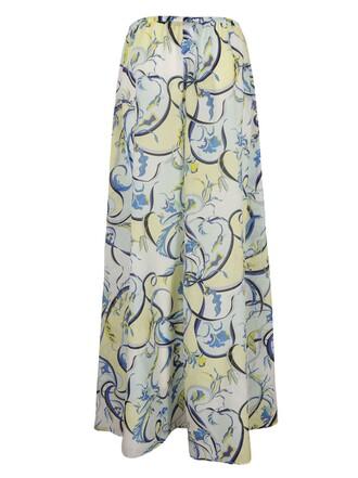 skirt printed skirt blue