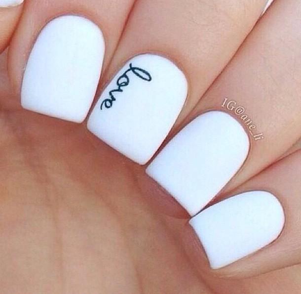 nail polish white