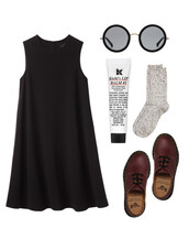 dress,black,clothes,sunglasses,little black dress,soft grunge,grundge,black dress,hipster,goth hipster,goth,alternative,alternative rock,cute dress,cute