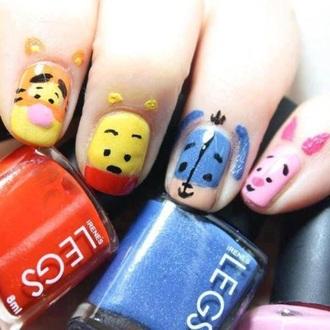 nail accessories nail art nails cute winnie the pooh cartoon