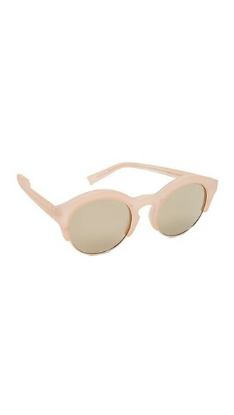 matte sunglasses gold blush