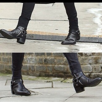 shoes black harry styles boots dark trendy