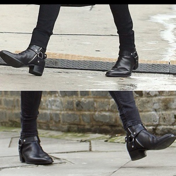Assez shoes, black, harry styles, boots, dark, trendy - Wheretoget RS04