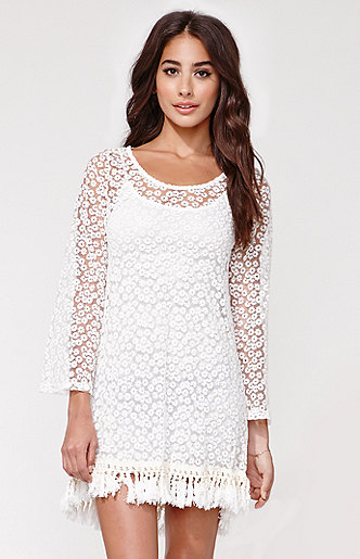 Reverse lace shift dress at pacsun.com