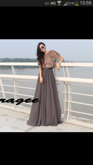 dress taupe maxi dress long dress maxi faux fur fur luxe chique