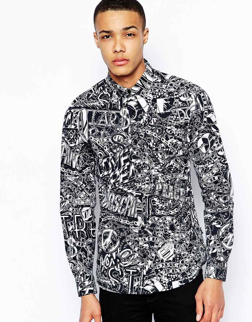 Love Moschino Shirt with Chain Print at asos.com