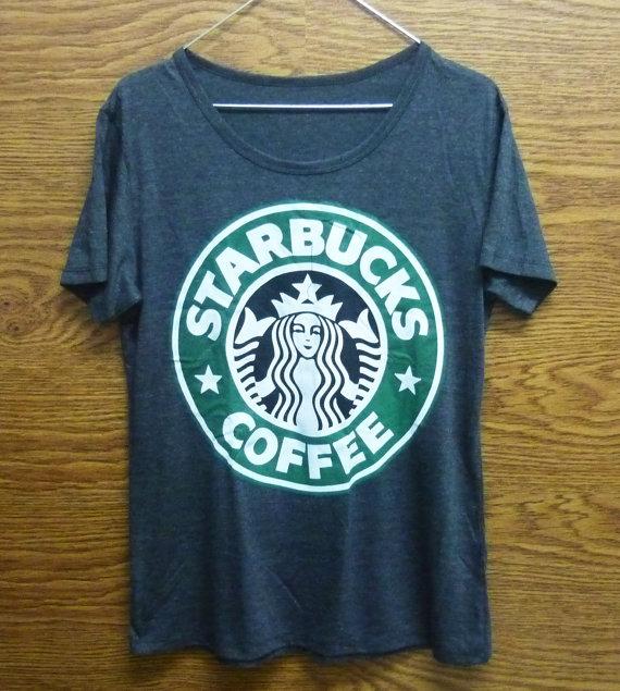 Starbucks tshirt size s/m/l/xl graphic tee plus size women t shirt/ shirt/ short sleeve/ crew neck t shirt