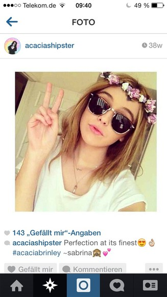 acacia clark acacia brinley clark black sunglasses cute flower crown white necklace white dress