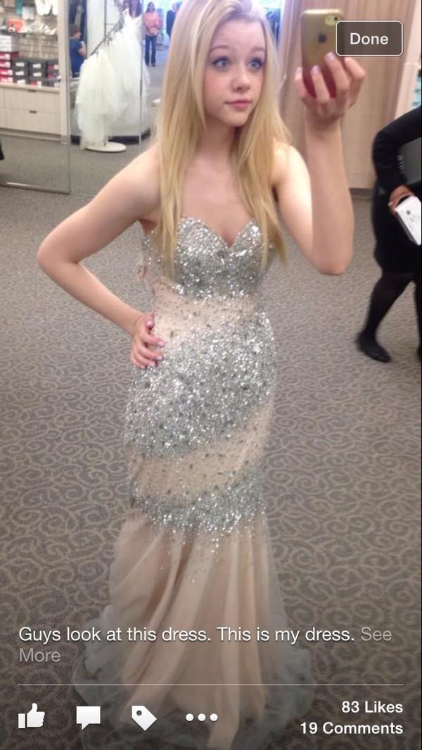 09af4464660fa dress, gold, mermaid, prom dress, sparkle - Wheretoget