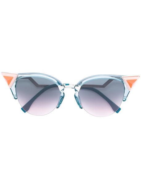 Fendi Eyewear - Iridia sunglasses - women - Acetate/Metal (Other) - 52, Blue, Acetate/Metal (Other)