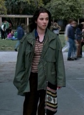green,lisa cardelli,lindsey,jacket,military style,parka,freaks and geeks,coat,lindsay,weir,freaks,geeks,camouflage