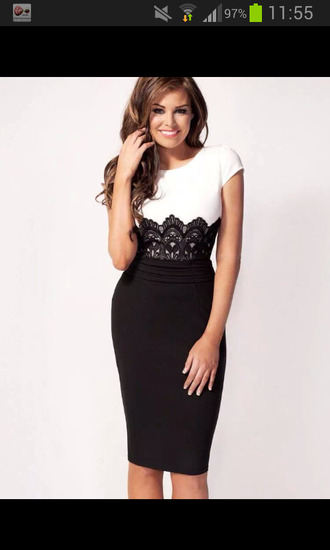 dress black lace and white dress jessica wright ivy lace shift dress towie lipsy black dress lace dress satin dress bodycon dress knee length dress nice fit buisness