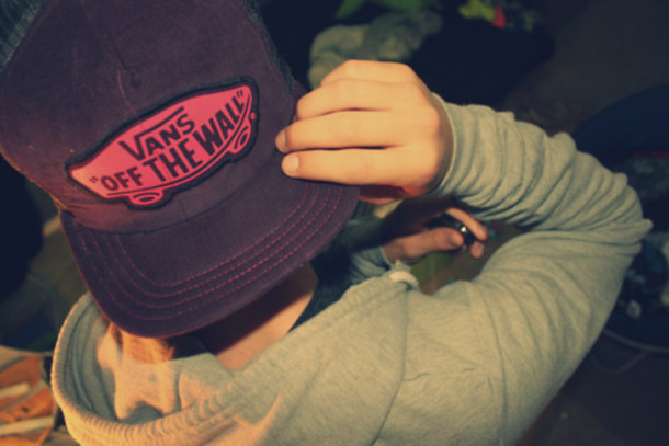 hat boy cap swag vans love vans off the wall purple pink