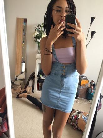 skirt overalls blue denim denim skirt