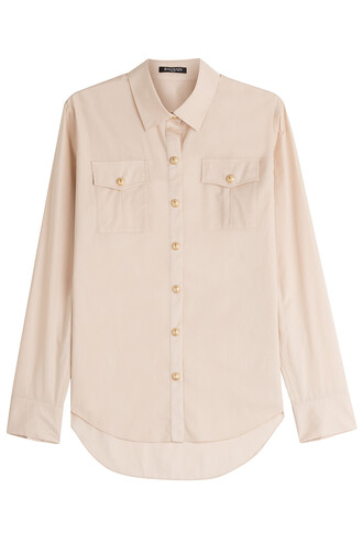 shirt cotton beige top