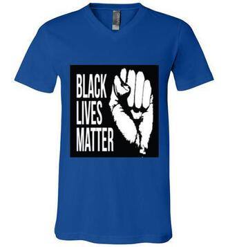 t-shirt mens v neck blacklivesmatter blue black white fitted t-shirt blue t-shirt black lives matter
