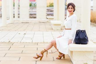 shoes and basics blogger dress bag belt shoes