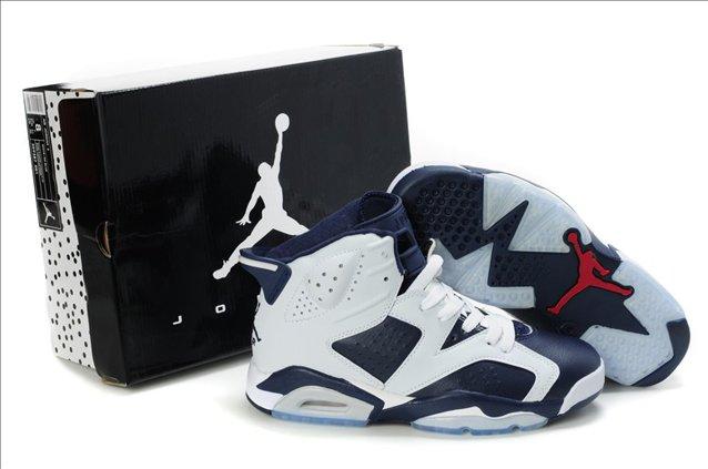 2012 New Air Jordan 6 VI Retro Mens Shoes White Blue