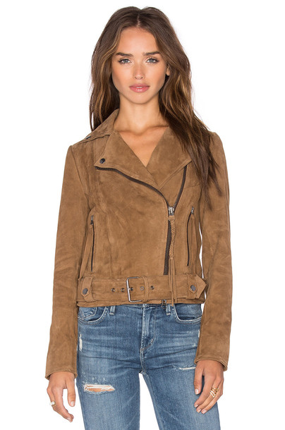 Muubaa jacket biker jacket tan