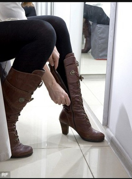 shoes brown leather boots