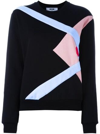 sweatshirt pattern black sweater