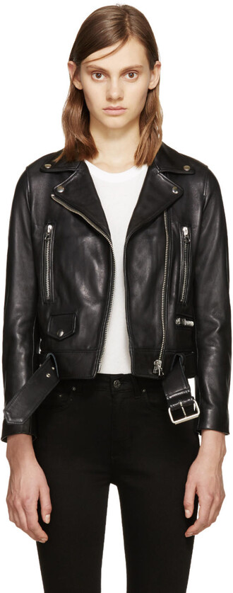 jacket leather black black leather