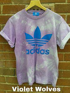 VINTAGE Tie Dip Dye Galaxy ADIDAS T-shirt Top Acid Wash Hipster Grunge 80s 90s | eBay
