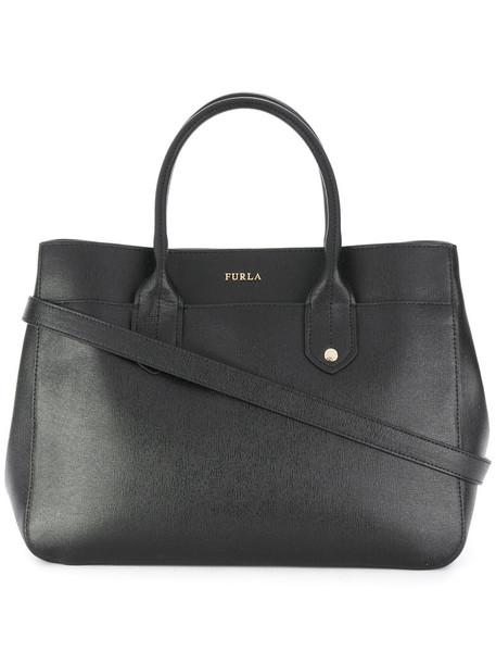 Furla women leather black bag