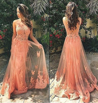 dress prom dress blush pink backless pink prom dress lace prom dress prom dress 2016 sexy prom dress tulle prom dress party dress