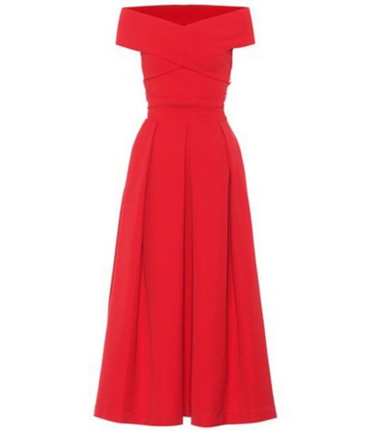 PREEN BY THORNTON BREGAZZI dress midi dress midi red
