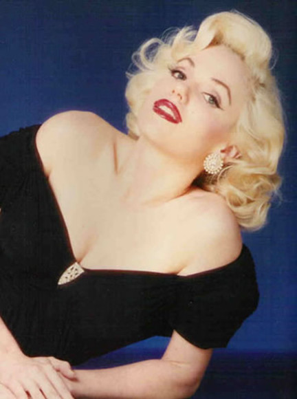 black shirt blouse marilyn monroe blonde sweetheart neckline shirt